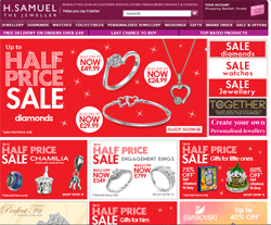 H Samuel coupon codes