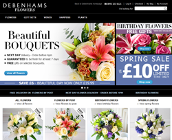 Debenhams Flowers Discount Codes