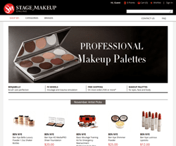 Latest Stage Makeup Online Promo Codes, Coupons - August 2017