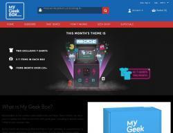 My Geek Box Discount Codes promo code