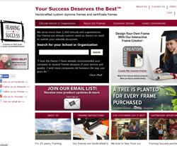 framing success website view