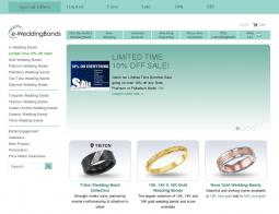E Wedding Bands Coupon Codes Website View