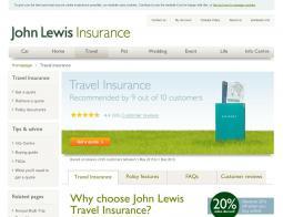 John Lewis Travel Insurance Discount Codes