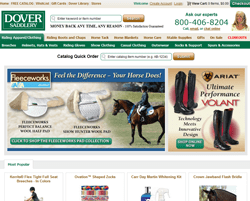 4 active Dover Saddlery Deals & Coupons Visitors save an average of $; For all your horseback riding needs, Dover Saddlery has got your covered without a doubt! Redeem a discount promotions that will give you a $10 discount when you spend more than $ You can also be well informed of coupons taking place on the website such as 60% discounts on spring sale.