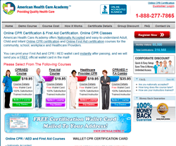 American Health Care Academy Coupon