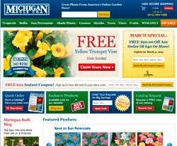 Using these Michigan Bulb coupon codes, you stand to receive free shipping on orders of $25 or more, flat 50% off on orders of $50 or more and a free subscription to Gardeners magazine for two months.