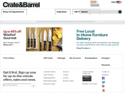 Crate And Barrel Coupons Website View