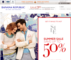 Banana Republic Canada Promo Codes