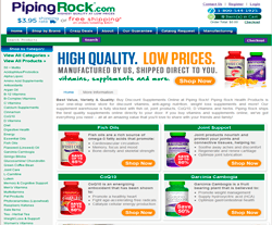 Piping Rock is dedicated to bringing the top vitamins and supplements in one place. Unlike other stores on the internet, Piping Rock manufactures its own supplements.