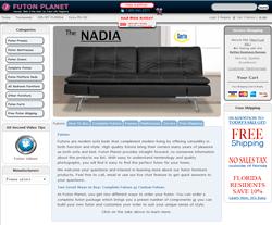 Promo Code 2017 Futon Planet Website View