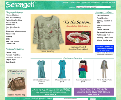 Serengeti catalog coupons free shipping