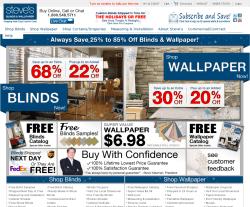 Steve's Blinds & Wallpaper Promo Codes