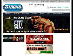 Strong Supplements Shop Coupons