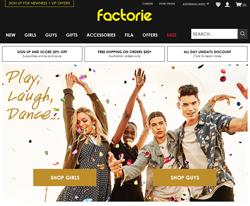Factorie Promo Codes