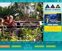 Moody Gardens Website View