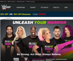 WWE Shop Coupon Codes