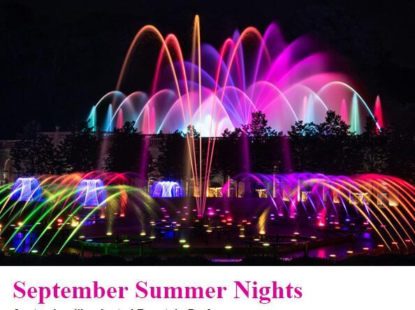 Summer in September: Illuminated Fountain Performances