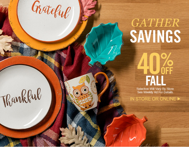 40% off fall offer hobby lobby