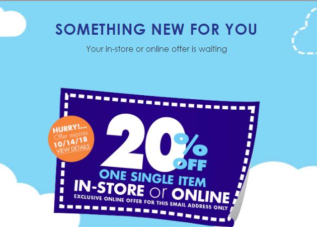 20% off one single item