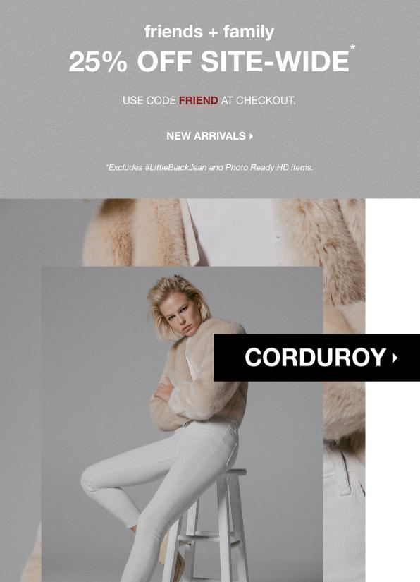25% Off Velvet + Corduroy