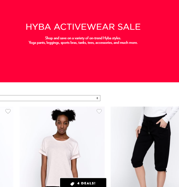 Shop and save on a variety of on-trend Hyba styles. Yoga pants, leggings, sports bras, tanks, tees, ...