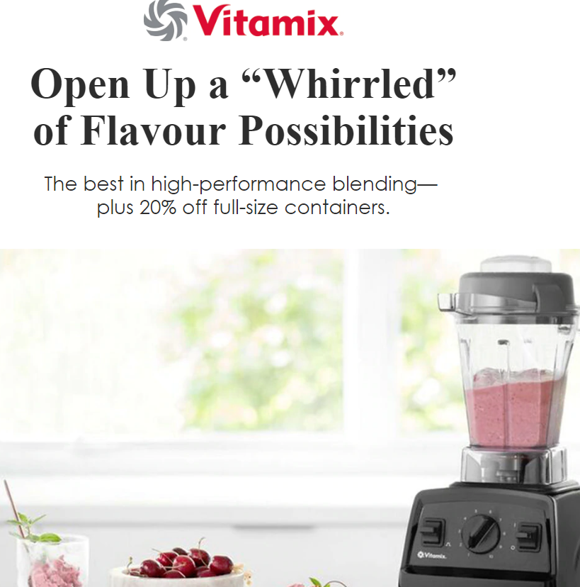 "Open Up a ""Whirrled"" of Flavour Possibilities. Refine every texture with Variable Speed Control,..."