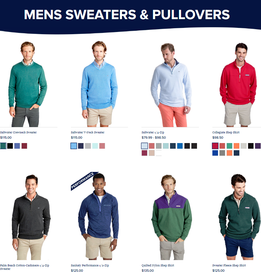 Mens sweaters & pullovers are soft and faded just a little bit.
