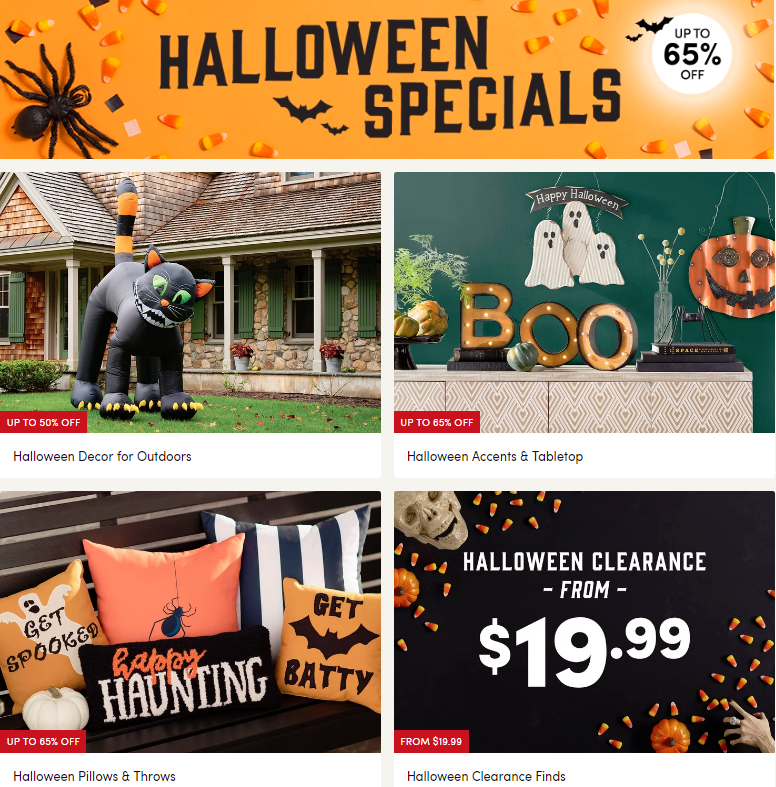 Get kooky and spooky with deals on unique Halloween finds.