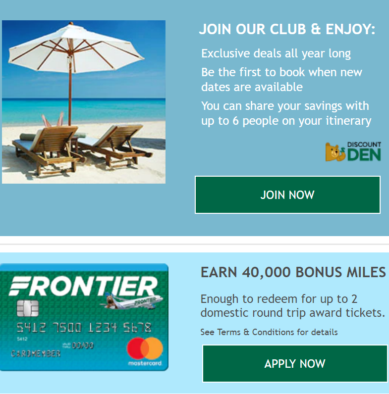 With a DISCOUNT DEN℠ subscription you will have exclusive access to Frontier's LOWEST available ...