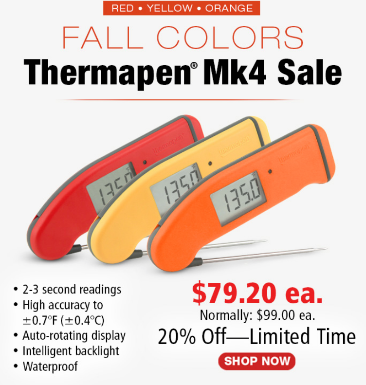 With full readings in only 2 to 3 seconds, the Super-Fast® Thermapen is the world's best in speed...