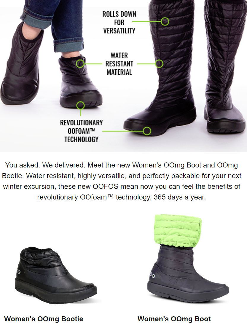 Meet the new Women's OOmg Boot and OOmg Bootie. Water resistant, highly versatile, and perfectly p...