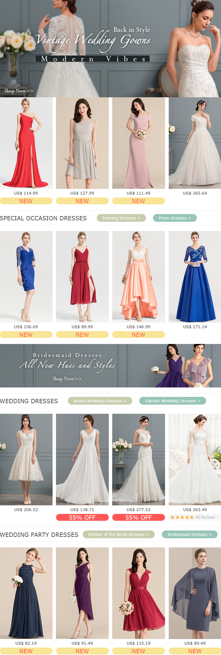 Without leaving your home, you could customize your wedding dresses and formal dresses with premium ...
