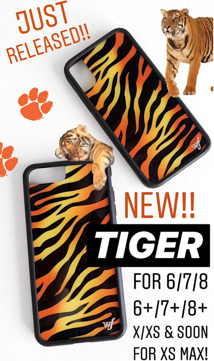 3d3642a1b4 New Tiger Iphone Cases For Iphone 6 7 8 Plus And X. New Tiger Iphone Cases  For Iphone 6 7 8 Plus And X Xs Wildflower