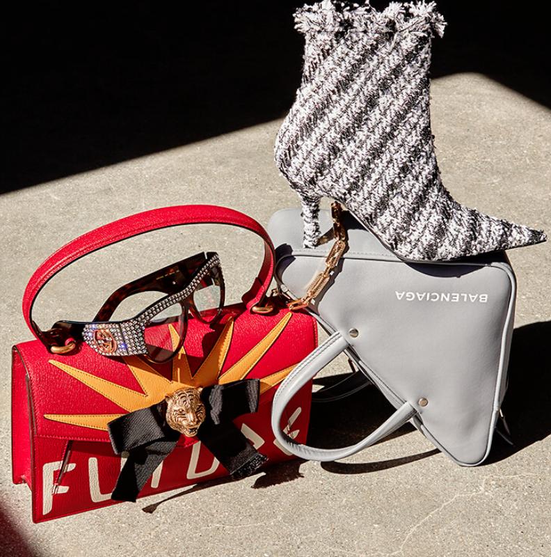 Splurge-worthy essentials: textured tweeds, attitude-fueled Gucci & neon Chanel.