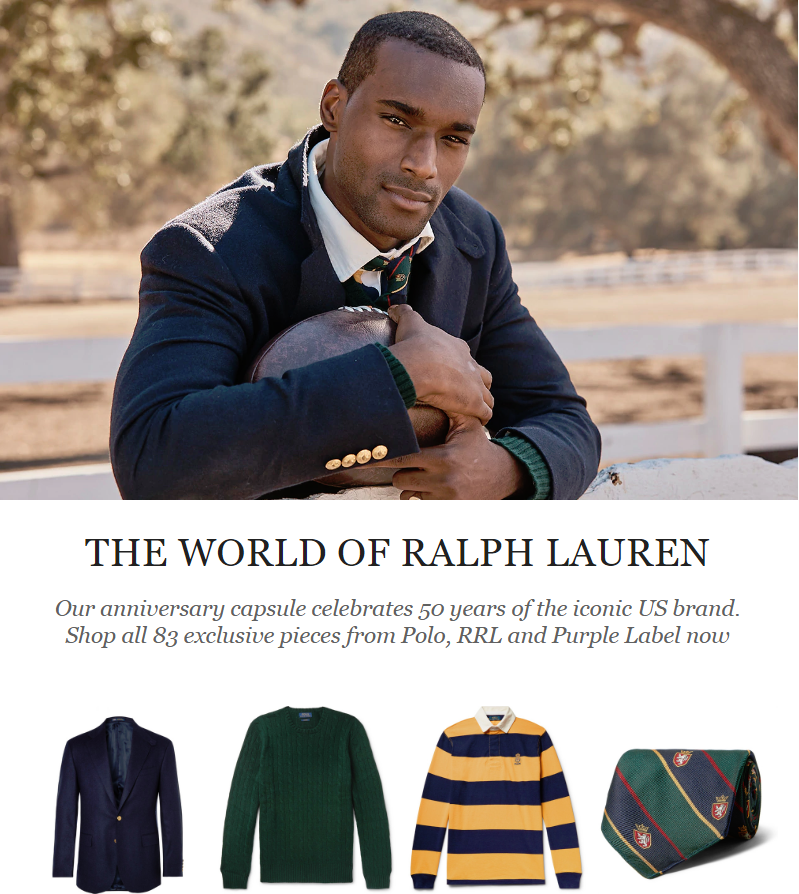 A greatest hits collection to mark the 50-year anniversary of the beloved American designer Mr Ralph...