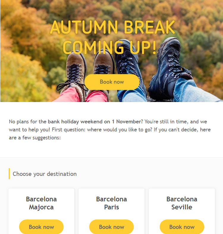 Vueling takes you to over 130 destinations, including major cities in Spain, Europe, North Africa an...