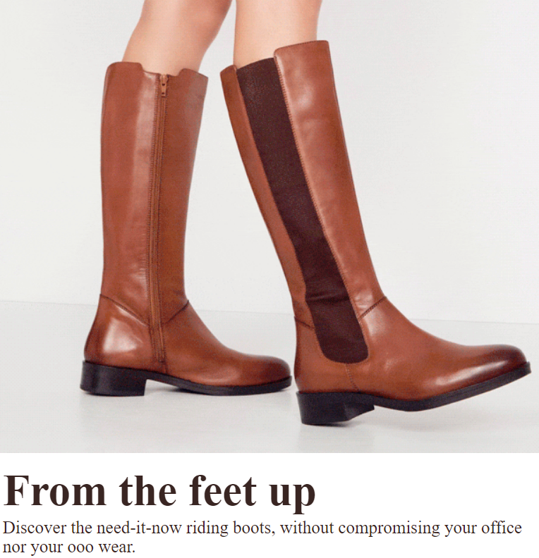Discover the need-it-now riding boots, without compromising your office nor your ooo wear.