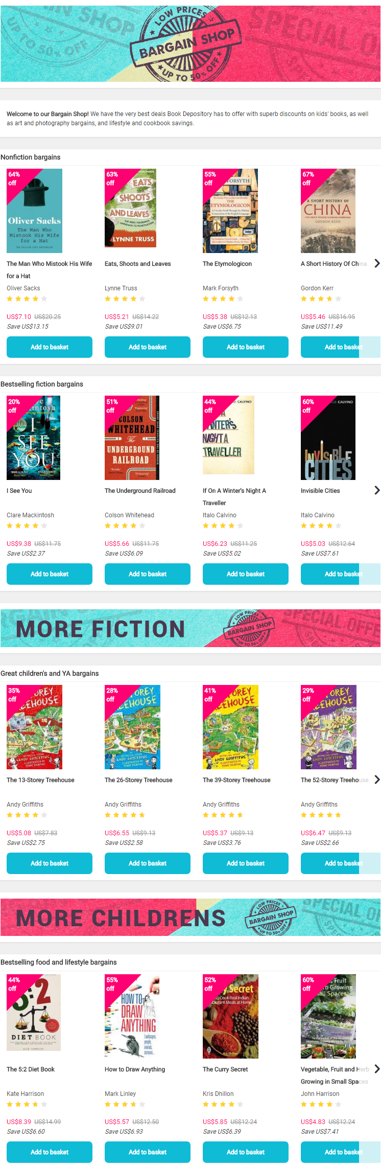Book Depository has to offer with superb discounts on kids' books, as well as art and photography ba...