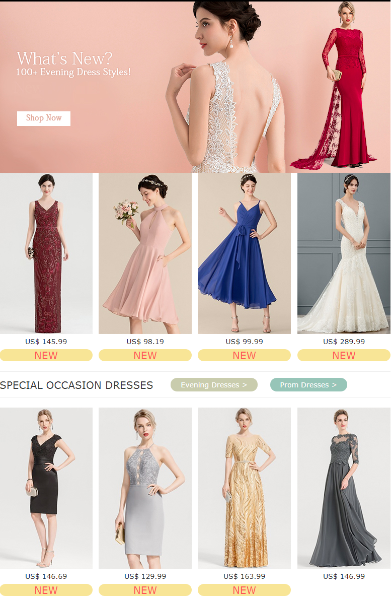 With more than 40 different colors to choose from and a wide variety of lengths, silhouettes, neckli...