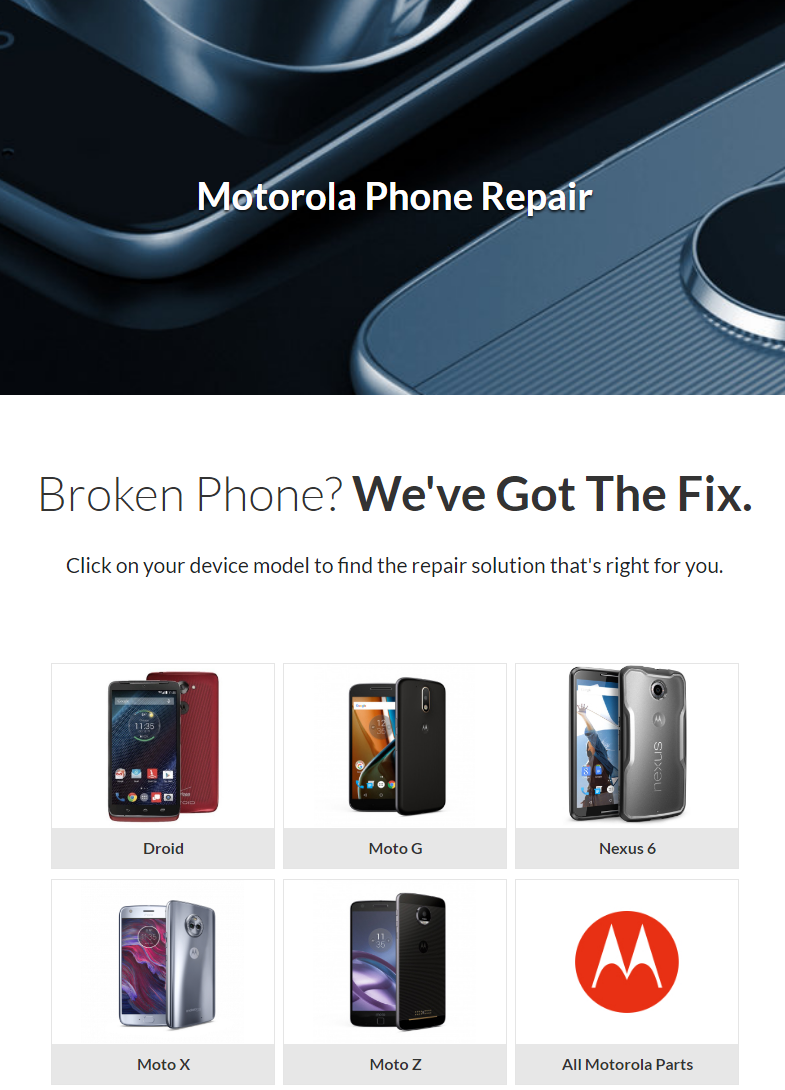 When your phone breaks, finding a fix can be tough. If you're a Motorola customer, now you've got op...