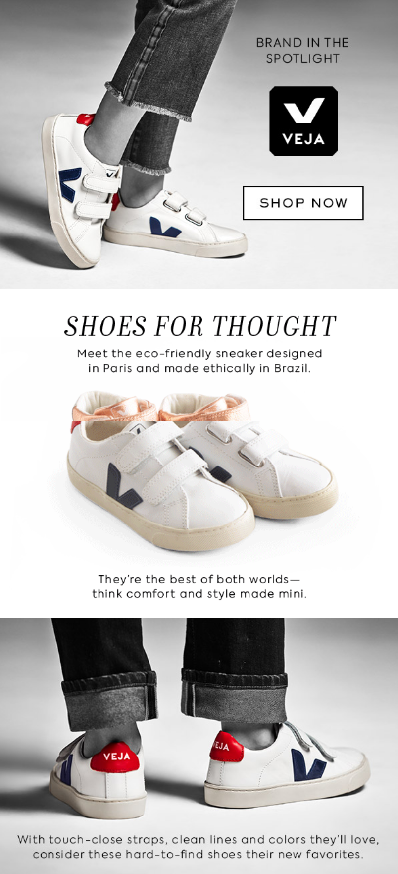 With touch-close straps, clean lines and colors you'll love. Consider these hard-to-find shoes as yo...