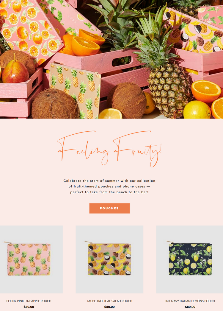 Celebrate the start of summer with the Daily Edited collection of fruit-themed pouches and phone cas...