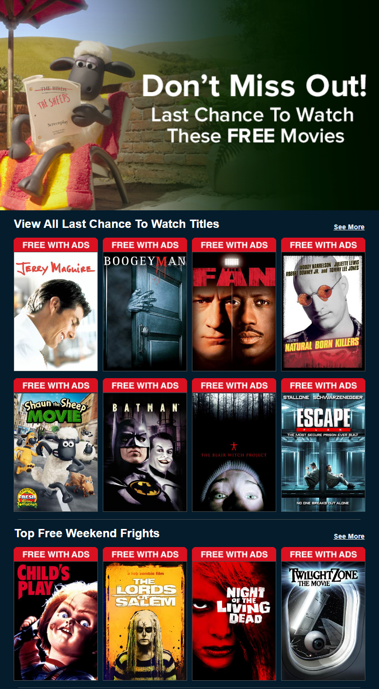 Watch your favorite free movies and enjoy yourself at your best time.