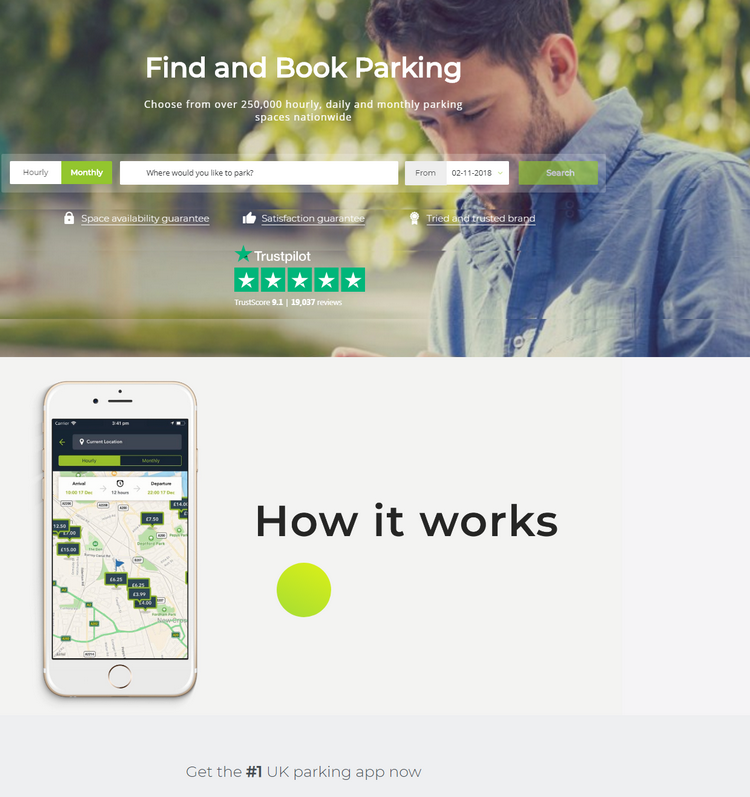 Choose from over 250,000 hourly, daily and monthly parking spaces nationwide.