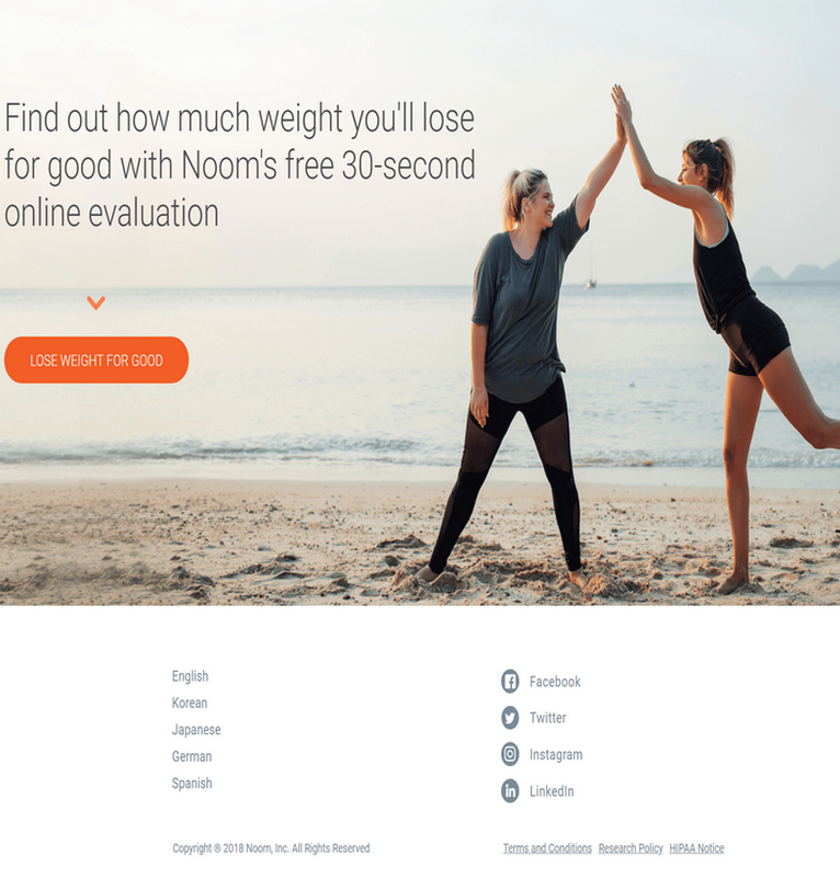Find out how much weight you'll lose for good with Noom's free 30-second online evaluation.