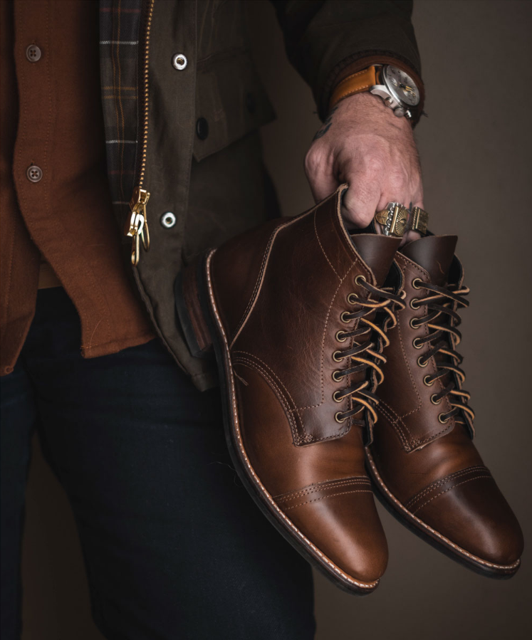 The superlative rendition of the classic American service boot of the 1940s. Handcrafted by expert a...