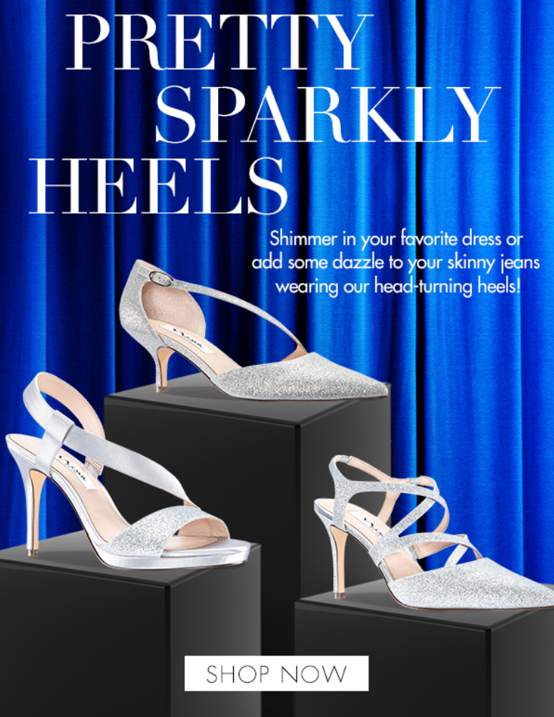 Slimmer in your favorite dress or add some dazzle to your skinny jeans wearing the head-turning heel...