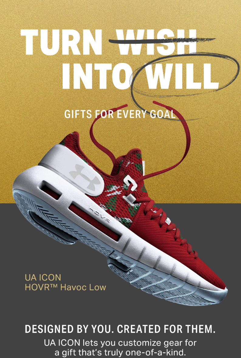 UA ICON lets your customize gear for a gift that's truly one-of-a-kind.