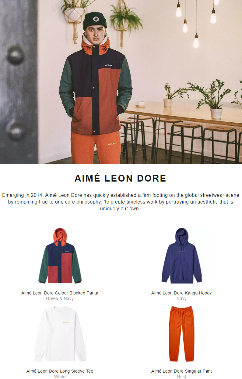 Emerging in 2014, Aimé Leon Dore has quickly established a firm footing on the global streetwear sc...