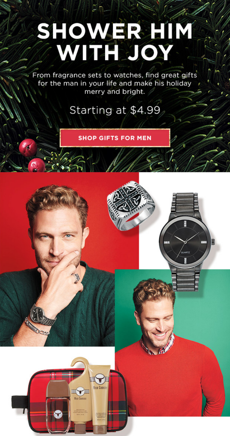 From fragrance sets to watches, find great gifts for the man in your life and make his holiday merry...